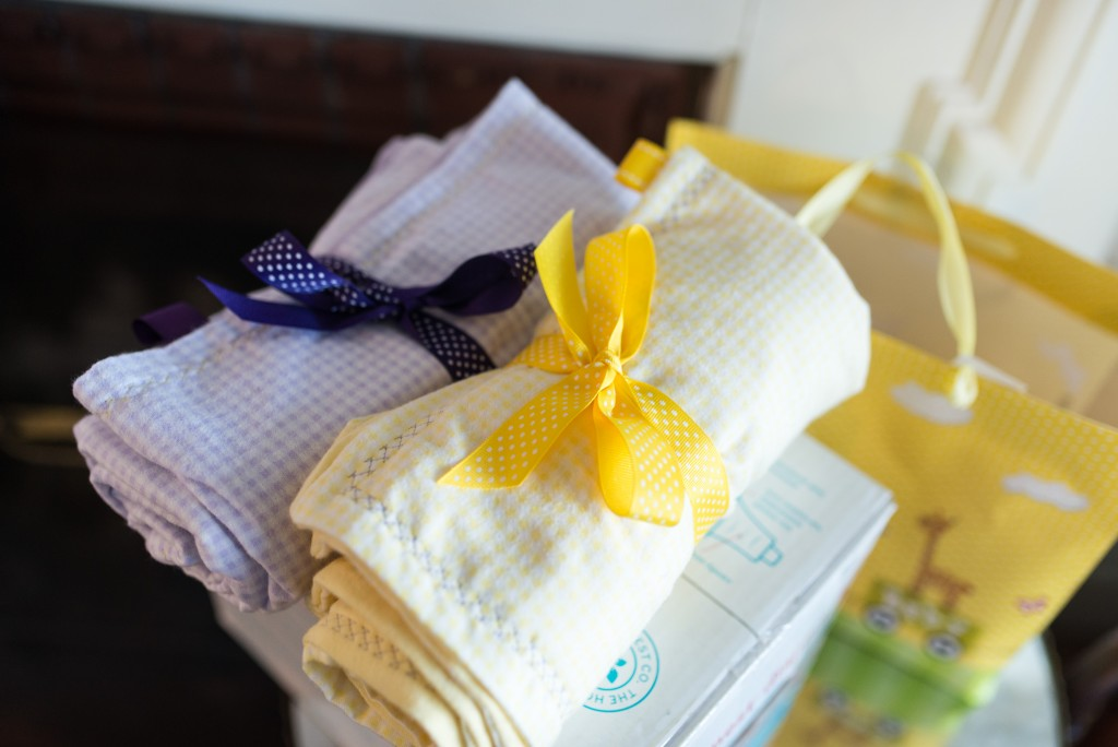 purple and yellow baby shower twins-2