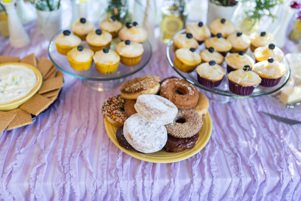 purple and yellow baby shower twins-23