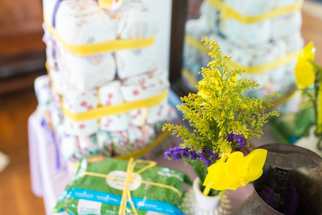 purple and yellow baby shower twins-5
