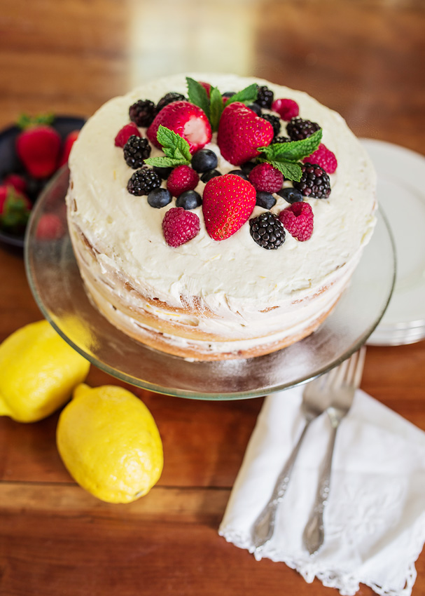 Mixed Berry Cake With Lemon Whipped Cream Icing_-11