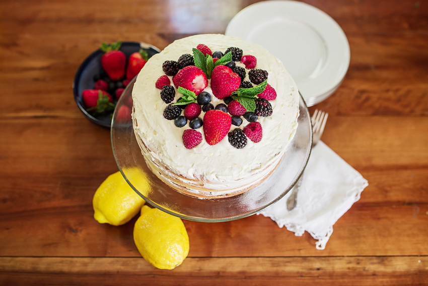 Mixed Berry Cake With Lemon Whipped Cream Icing_-6
