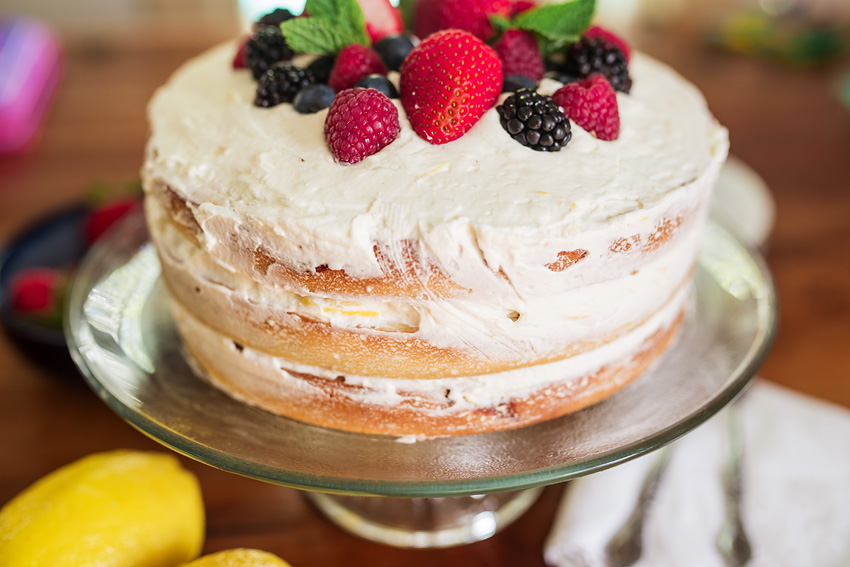 Mixed Berry Cake With Lemon Whipped Cream Icing_-7