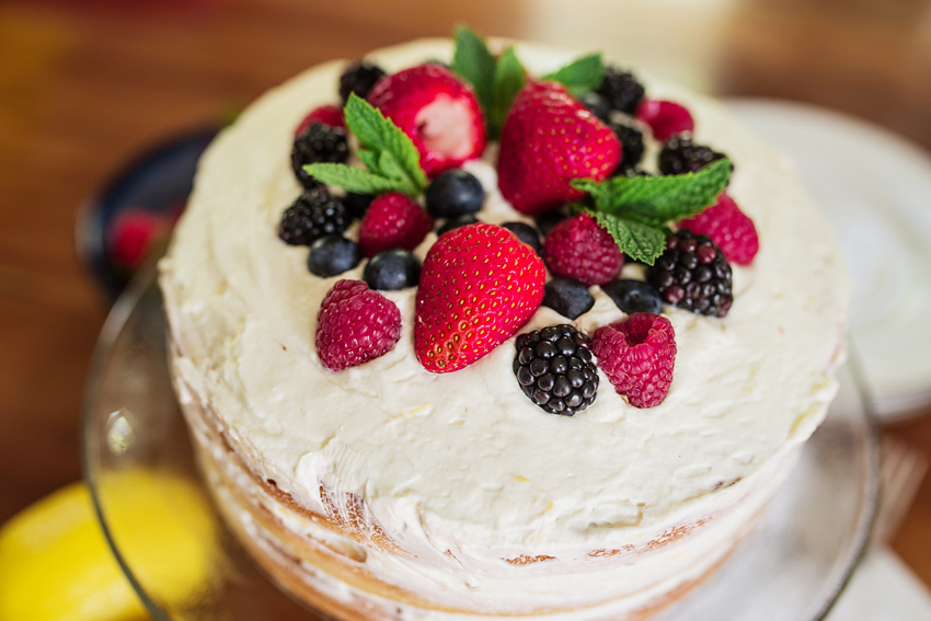 Mixed Berry Cake With Lemon Whipped Cream Icing_-8