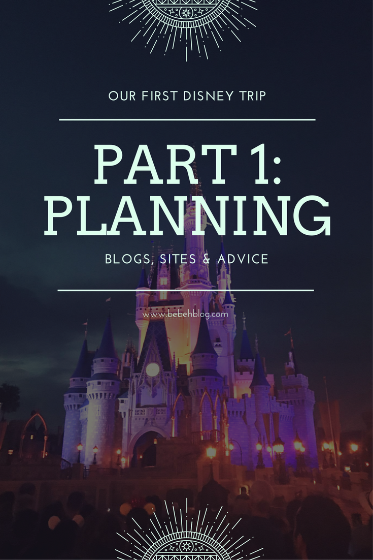 Our First Disney Trip Planning