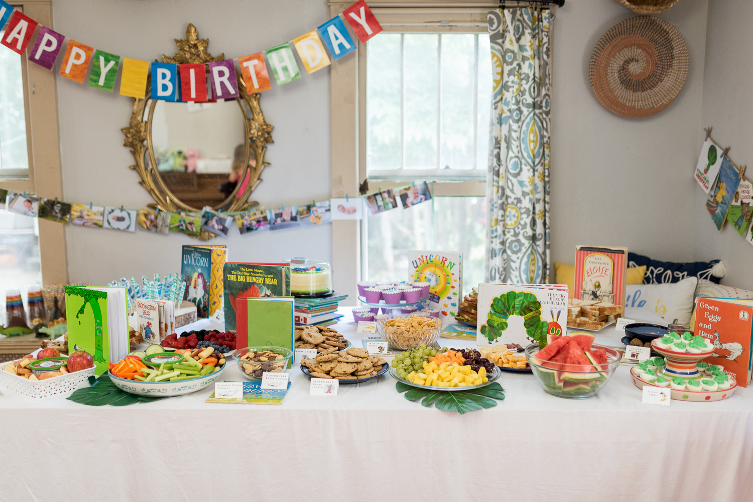 children's book themed birthday party