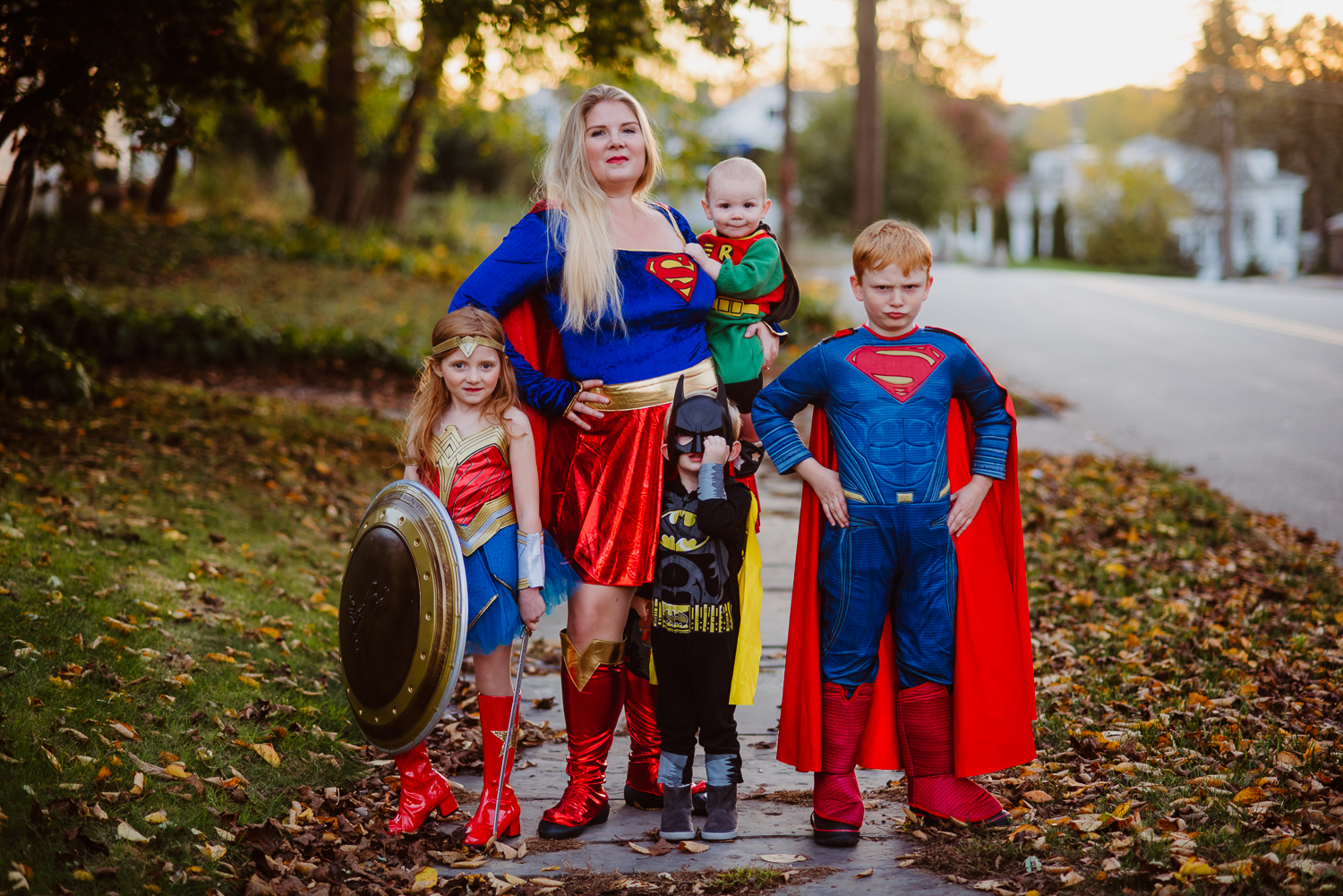dc comics superhero family halloween 2017