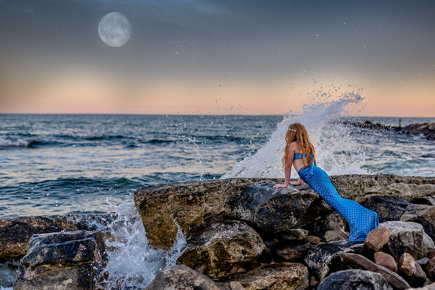 mermaid photo session