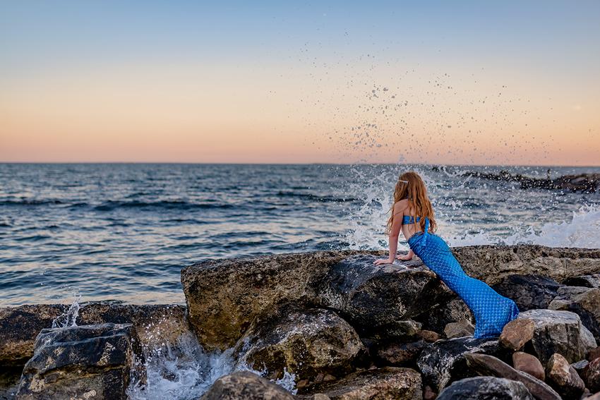 mermaid photo session